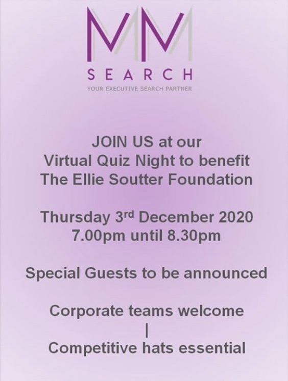 Virtual Quiz Night MM Search for The Ellie Soutter Foundation